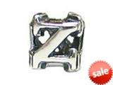 "Zable™ Sterling Silver Open Initial ""Z"" Bead / Charm style: BZ1826"