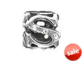 "Zable™ Sterling Silver Cz Initial ""S"" Bead / Charm style: BZ1845"