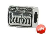 Zable™ Sterling Silver Bourbon Street Sign Bead / Charm