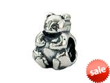 Zable™ Sterling Silver Panda, Two-Sided Bead / Charm