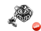 Zable™ Sterling Silver Key To My Heart Dangle Pandora Compatible Bead / Charm style: BZ1918