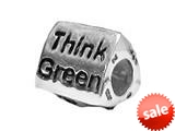 Zable™ Sterling Silver Think Green Bead / Charm