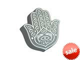 Zable™ Sterling Silver Hamsa Hand Bead / Charm style: BZ2024