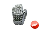 Zable™ Sterling Silver Glitter Glove Bead / Charm style: BZ2030