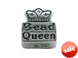 Zable™ Sterling Silver Pandora Compatible Bead Queen Pandora Compatible Bead / Charm style: BZ2048