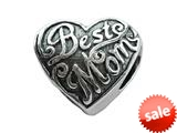 Zable™ Sterling Silver Best Mom Bead / Charm style: BZ2052
