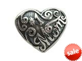 Zable™ Sterling Silver #1 Mom Bead / Charm style: BZ2054