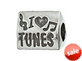 Zable™ Sterling Silver I Heart Tunes Bead / Charm style: BZ2081