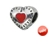 Zable™ Sterling Silver Red Heart with XO`s Bead / Charm