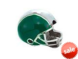Zable™ Sterling Silver Green Football Helmet Bead / Charm