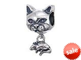 Zable™ Sterling Silver Cat With Mouse Pandora Compatible Bead / Charm style: BZ2168