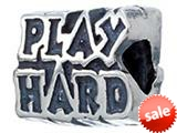 Zable™ Sterling Silver Work Hard/play Hard Bead / Charm style: BZ2213