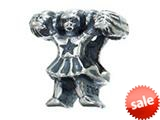Zable™ Sterling Silver Cheerleader Pandora Compatible Bead / Charm style: BZ2219