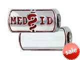 Zable™ Engravable Medical ID Pandora Compatible Bead / Charm style: BZ2230