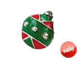 Zable™ Sterling Silver Ornament with Enamel Bead / Charm