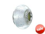 Zable™ Sterling Silver Murano Glass Birthstone April Pandora Compatible Bead / Charm style: BZ4004
