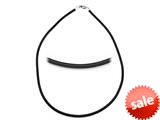 Zable™ Sterling Silver 3Mm Rubber Necklace 18 inches for use with Beads style: BZB261