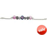 Zable™ Sterling Silver Mom Theme Bracelet with 7 Beads