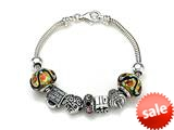 Zable™ Sterling Silver Birthday Theme Bracelet with 7 Beads style: BZB403
