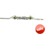 Zable™ Sterling Silver Sports Theme Bracelet with 7 Beads