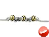 Zable™ Sterling Silver Wild Life Theme Bracelet with 7 Beads