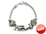 Zable™ Sterling Silver Happy Hour Theme Bracelet with 7 Beads