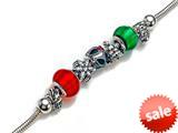 Zable™ ChristmasTheme 8 inches Bracelet Bead / Charm style: BZB412-8