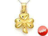 14kt Yellow Gold 3 Leaf Clover Shamrock Pendant - Chain Included style: CG10170