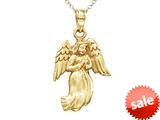 14kt Yellow Gold Angel Pendant - Chain Included style: CG15052