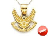 14kt Yellow Gold US Air Force Wings Pendant - Chain Included style: CG15142