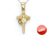 14kt Yellow Gold US Marine Corp Cross Pendant - Chain Included style: CG17041