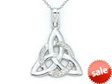 14kt White Gold Celtic Pendant - Chain Included style: CG17089