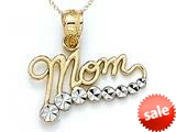 14kt Yellow Gold Mom Journey Pendant Necklace - Chain Included style: CG17335