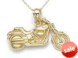 14kt Yellow Gold Small Motorcycle Pendant Chain Included style: CG17494