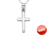 14kt White Gold Medium Polished Cross Pendant - Chain Included style: CG17522