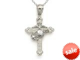 14kt White Gold Large Fancy Marine Cross Pendant - Chain Included style: CG17585