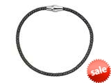 Stellar White™ Black Rhodium Mesh Bracelet Magnet 7.5 Inches