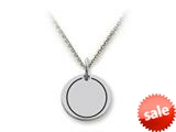 Stellar White™ 925 Sterling Silver Disc Charm - Plain, Engravable -  Chain Included style: SS5172
