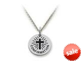 Stellar White™ 925 Sterling Silver Confirmation Disc Pendant - Chain Included style: SS5173