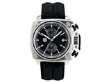 Andrew Marc Men`s Heritage Cargo Stainless Steel Case With Black Strap Chronograph Watch