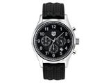 Andrew Marc Men`s Club Blazer Stainless Steel Case With Black Strap Chronograph Watch