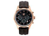 Andrew Marc Men`s Club Blazer Rose Gold Case With Brown Strap Chronograph Watch