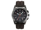 Andrew Marc Men`s Heritage Racer Gunmetal Case With Brown Strap Chronograph Watch