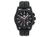 Andrew Marc Men`s Heritage Racer Black Case With Black Strap Chronograph Watch