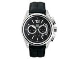 Andrew Marc Men`s G III Racer Stainless Steel Case With Black Strap Chronograph Watch