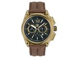 Andrew Marc Men`s G III Racer Gold Case With Browm Strap Chronograph Watch