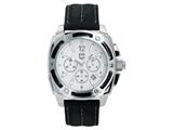 "Andrew Marc Men""s G III Bomber Stainless Steel Case With Black Strap Chronograph Watch style: A11005TP"