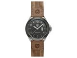 Andrew Marc Men`s Heritage Roadside Stainless Steel Case With Brown Strap 3-Hand Date Watch style: A11101TP