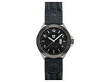 Andrew Marc Men`s Heritage Roadside Stainless Steel Case With Black Strap 3-Hand Date Watch