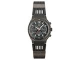 Andrew Marc Men`s Heritage Scuba Gunmetal Case With Grey Strap Chronograph Watch